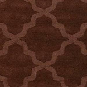 Overstock Hand-Woven Amy Tone-on-Tone Lattice Wool Rug (Rust - 6' Round)
