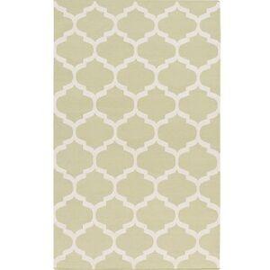 Overstock Hand-Woven Madison Moroccan Trellis Cotton Rug (3' x 5' - Light Grey)