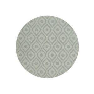 Overstock Hand-Woven Abi Tone-on-Tone Wool Rug - 6' (Purple - 6' Round)