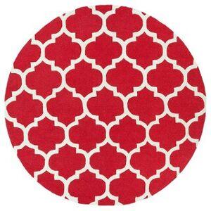 Overstock Hand-Tufted Dusky Moroccan Trellis Wool Rug (Grey - 8' Round)