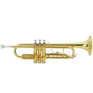 FastBuy Drop B Tone Adjustable Trumpet, Gloves, Lubricant Set Plaint Golden (Paint gold)