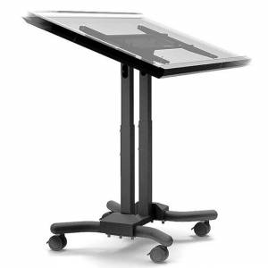 Cotytech Adjustable Ergonomic Mobile Touch Screen Cart for 32 to 56 Inches (Black - Metal)