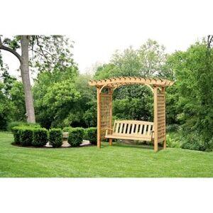 YardCraft Brandywine Arbor (With 5' Garden Swing)