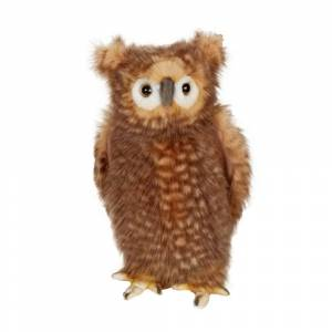 Hansa Adult Brown Owl Plush Toy (1)
