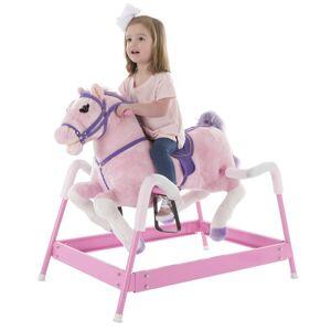 Happy Trails Pink Spring Rocking Horse Plush Ride On (Spring Rocking Horse Plush Ride on - Pink)