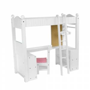 """Teamson Design Corp Olivia's Little World - 18"""" Doll College Dorm Double Bunk Desk (Kids - Assembly Required)"""