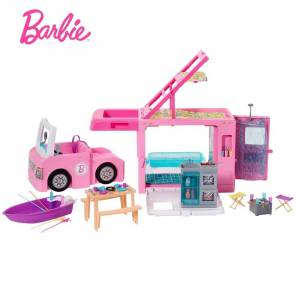 Mattel Barbie 3-in-1 DreamCamper Vehicle and Accessories (Toddler)