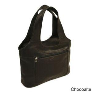 Piel Leather Laptop Hobo Bag (Chocolate)