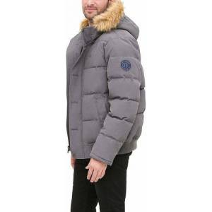 Tommy Hilfiger Men's Arctic Snorkel Bomber Jacket - Charcoal - Size: Small