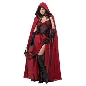California Costumes California Women's Adult Riding Hood Halloween Costume - Dark Red California Costumes