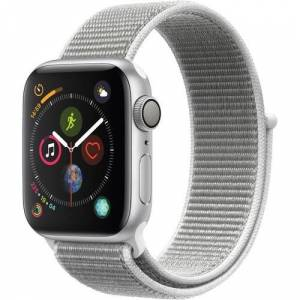 Apple Series 4 40mm Aluminum Case Smart Watch - Black/Silver (MU652LL/A)