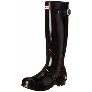 Hunter Women's Original Tall Rain Boots - Black Gloss - Size:10