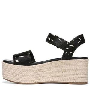 Franco Sarto Women's Ben Espadrille Wedge Sandal - Black/White - Size: 9