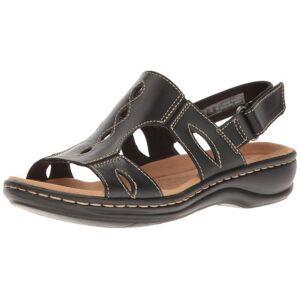 Clarks Women's Leisa Lakelyn Casual Slingback Sandals - Black - Size: 7.5