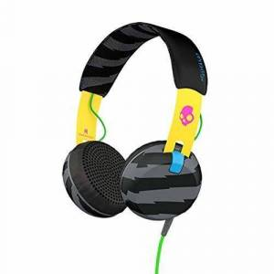 Skullcandy Grind Wired On-Ear Headphone with Taptech Playback Remote - Yellow/Black