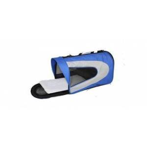 Pet Life Folding Zippered Sporty Mesh Pet Carrier - Blue - Size: Medium