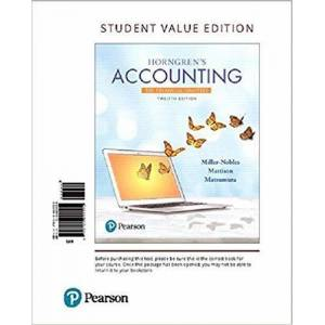 Pearson Horngren's Accounting The Financial Chapters - Loose Leaf - Great Gift Idea