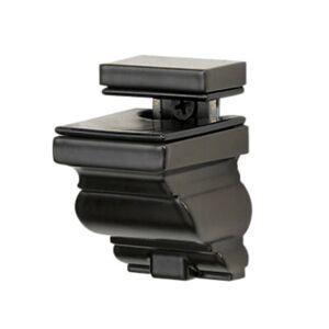 "Smart Furniture Crowne Shelf Bracket, Medium by Smart Furniture / Bracket Color:silver Black / 2.10"" h x 2.75"" w x 2.50"" d / CROWNEBRMED-SILVER BLACK"