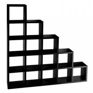 Kartell Modular Bookshelf / Black / Metal