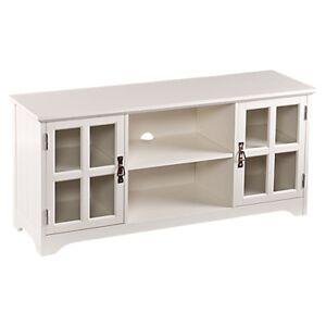 """SEI Hudson White TV Stand - 24.25"""" h x 52"""" w x 15.75"""" d - SEI - SEIMS9908-WH"""