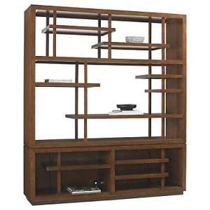 "Tommy Bahama Home Island Fusion Taipei Media Bookcase by Tommy Bahama Home - 92.25"" h x 80"" w x 19"" d"