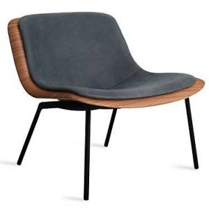 Blu Dot Nonesuch Upholstered Lounge Reclining Chair - Wood/Steel