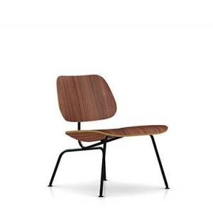 "Herman Miller Authentic Herman Miller Eames Molded Plywood Lounge Reclining Chair - Walnut - 26.5"" h x 22"" w x 24.25"" d - Wood/Metal"