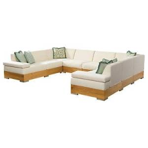 """Tommy Bahama Outdoor Tres Chic Sectional Sofa by Tommy Bahama Outdoor - 31.5"""" h x 140.5"""" w x 110.25"""" d - Steel"""