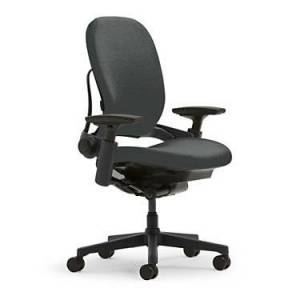 "Steelcase Authentic Steelcase Leap Office Chair Plus - 42.5"" h x 31.75"" w x 20.5"" d - Leather"