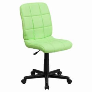 """Flash Furniture Mid-Back Quilted Vinyl Task Office Chair - Pink - 38.75"""" h x 23"""" w x 24"""" d - Flash Furniture"""