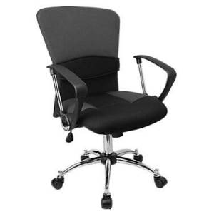 "Flash Furniture Mid-Back Mesh Office Chair - Grey - 42.25"" h x 23.75"" w x 24"" d - Metal - Flash Furniture"