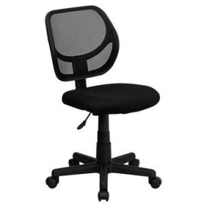 "Flash Furniture Mid-Back Mesh Task Office Chair and Computer Office Chair - Black - 34.5"" h x 21.5"" w x 22.5"" d - Flash Furniture"