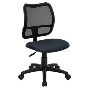 "Flash Furniture Mid-Back Mesh Task Office Chair - Blue - 38"" h x 22"" w x 22"" d - Flash Furniture"