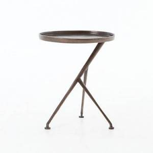 Four Hands Schmidt Accent Table by Four Hands - Rust - Metal