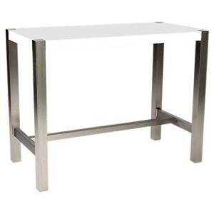 "Moe's Riva Counter Table by Moe's - White - 36"" h x 47"" w x 24"" d - Steel"