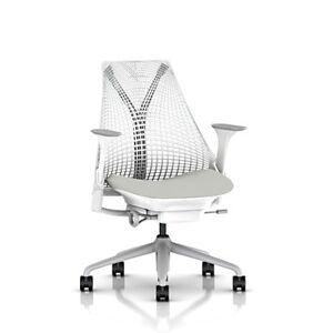 Herman Miller Authentic Herman Miller Sayl Office Chair - White - SAYLAS1SA23PAAJ65DX3M633004