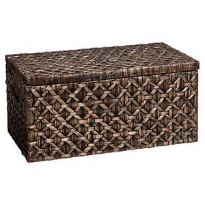 "SEI Sebastian Blackwashed Storage Trunk Table - 17.75"" h x 37.75"" w x 20.5"" d - SEI - SEICK0126-BK"