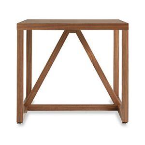 "Blu Dot Strut Side Table - Walnut - 18"" h x 20"" w x 20"" d - Wood/Steel"