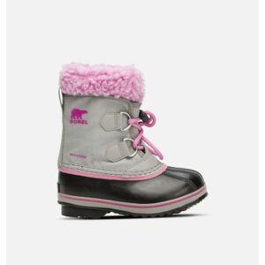 Sorel Childrens Yoot Pac  Nylon Boot-  - GreyPink - Size: 8