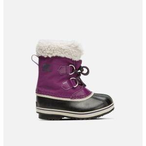 Sorel Childrens Yoot Pac  Nylon Boot-  - Purple - Size: 12