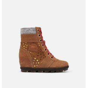 Sorel Youth Lexie  Wedge Boot-  - BrownMetallic - Size: 5