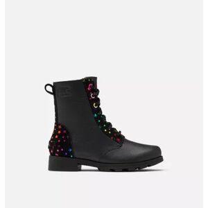 Sorel Youth Emelie  Short Lace Boot-  - Black - Size: 2