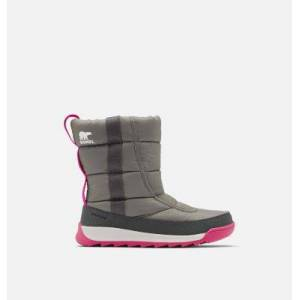 Sorel Youth Whitney  II Puffy Mid Boot-  - Grey - Size: 3