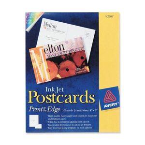 "Avery Inkjet Print Invitation Card - 4"" x 6"" - Matte - 50 / Box - White - TAA Compliance"