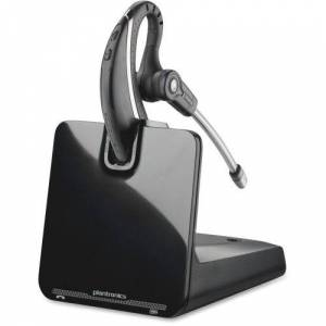 Plantronics CS530 Wireless Headset System - Black - Wireless - DECT - Over-the-ear - Monaural - Outer-ear - Noise Canceling - TAA Compliance