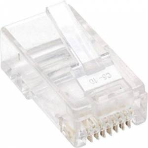 """Intellinet Network Solutions Intellinet Cat5e 3-prong Modular Plugs, Jar of 100 - UTP, Cat5e Modular Plugs for Solid Wire"""""""
