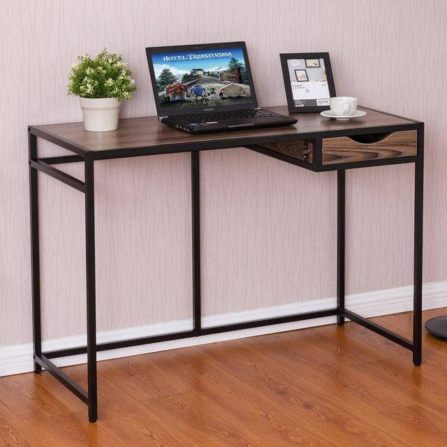 Silver Molly Computer Desk PC Laptop Table Modern Wood