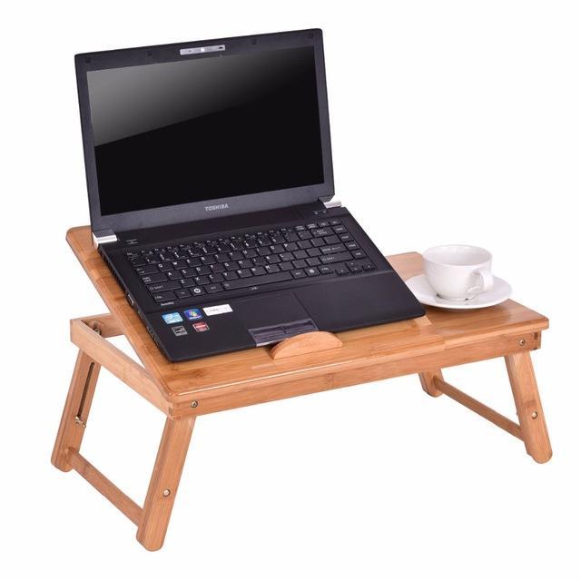 Silver Molly Portable Folding Laptop Table Bamboo Sofa