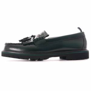 Fred Perry G.H.Bass & Co. x Fred Perry Layton Tassel Loafer   Bottle Green   SB8071-L24