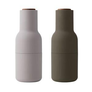 Menu Bottle grinder, 2-pack, hunting green - beige - walnut